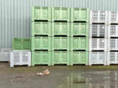 10No Dolavs pallet boxes 1m x 1.2m x 0.77m high Please note that this lot is situated at Catherine's