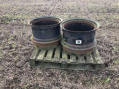 Pair Stocks dual wheel rims