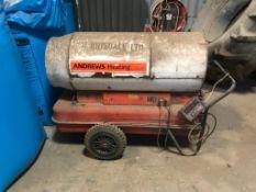 Andrews space heater, single phase, diesel