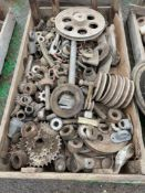 Quantity miscellaneous gear and pulley spares
