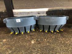 2No 5 calf milk feeders