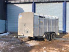 Ifor Williams 12ft twin axle livestock trailer. Model No: TA510G12. Serial No: 176726