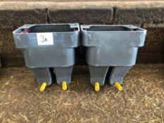 2No twin calf milk feeders