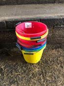 Quantity of plastic buckets