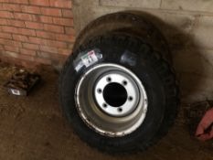Pair 10.0/75-15.3 implement wheels and tyres