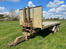 Flat bed 21ft hydraulic tipping trailer twin axle
