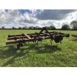 Massey Ferguson 9ft 6inch pig tail cultivator with depth wheels