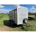 Ifor Williams TA-5-G twin axle livestock trailer with partition gate. Serial No: 131356