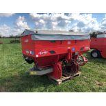 2005 Kuhn MDS1132 24m twin disc fertiliser spreader with border control, hydraulic shut off and B121