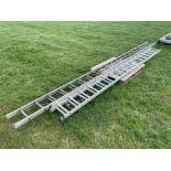 Quantity aluminium ladders