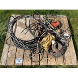 Quantity electrical cabling and spares