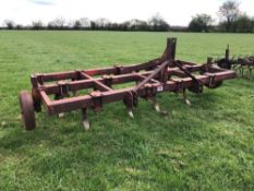 Fixed C-tine cultivator 3.1m with depth wheels