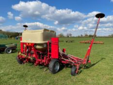 2010 Weaving Aguirre 4.8m tine drill with following harrow. Serial No: 1224. N.B. Instruction