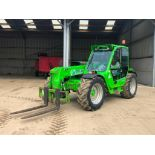 2008 Merlo Panoramic P32.6 Plus telescopic loader with pallet tines and pickup hitch on 405/70-24 wh