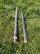 Pair bale squeeze tubes