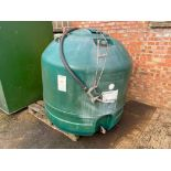 Balmoral BRM V1365 300 gallon diesel tank with hose and nozzle.