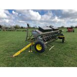 Carrier 4m linkage mounted tine drill with end tow kit. N.B. Instruction manual in office
