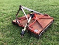 2002 Kuhn 5ft linkage mounted pasture topper. Serial No: 024056. N.B. Instruction manual in o