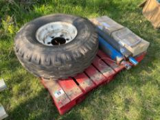 Quantity AS Marston trailer spares including 320/80-15.3 wheel and tyre