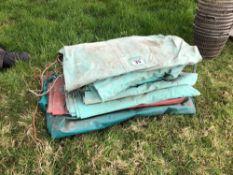 Quantity miscellaneous tarpaulins