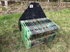 Linkage mounted John Deere wafer weight block 20 x 50kg