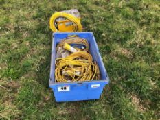 110v transformer with extension cables