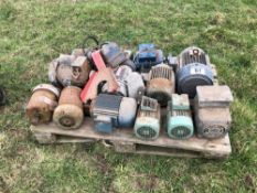 Quantity electrical motors