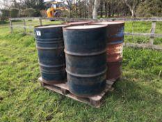 Quantity empty oil drums