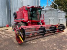 2006 Case Axial Flow 2388 Xclusive combine harvester on 800/65R32 front wheels and tyres with straw