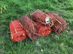 Quantity rabbit netting, as seen