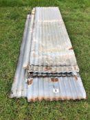 Quantity corrugated tin