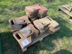 Quantity miscellaneous tractor weights