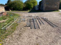 Galvanised ladders