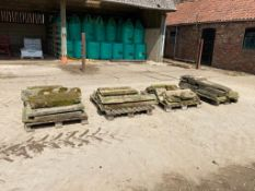 4 pallets of assorted stone capping and flags