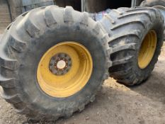 Pair of wheels on 1050/50R32 Michelin tyres.