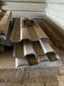 Qty of galvanised grain bin walling