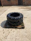 Pair of Firestone 11.2r24 tyres