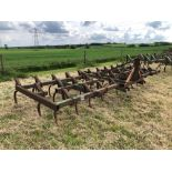 C tine cultivator, 4.5m linkage mounted