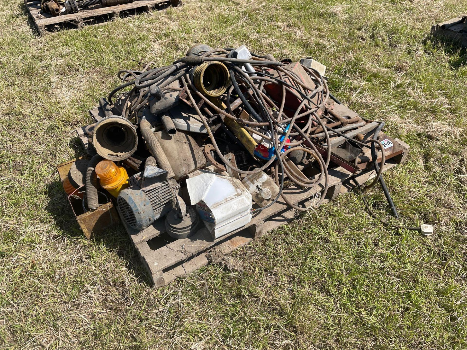 Various spares including electric motors
