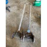2No vintage push mowers