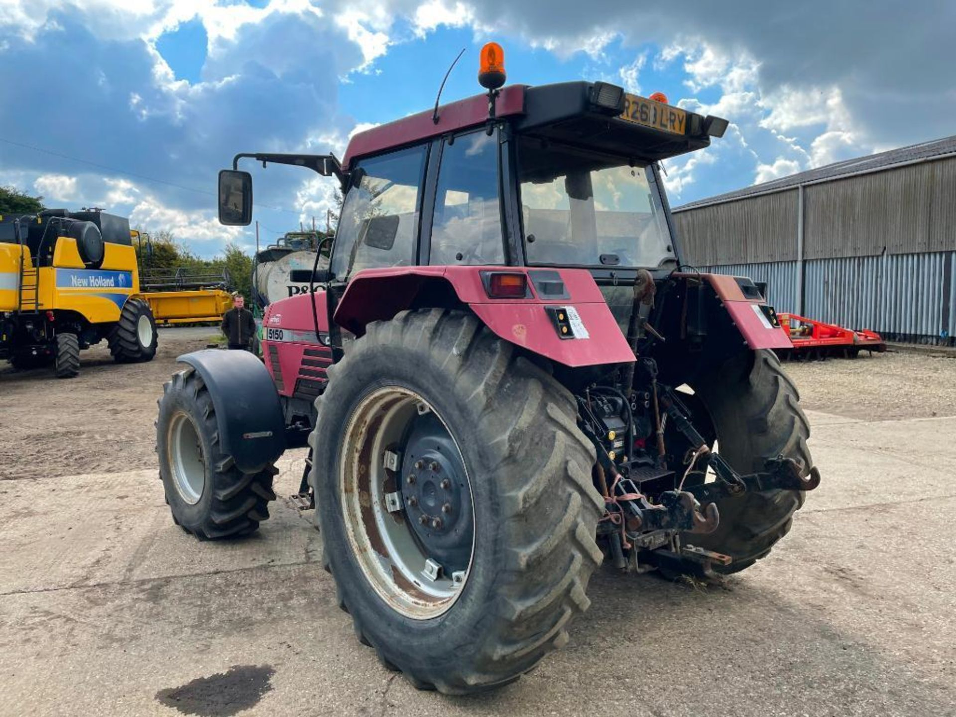 1997 Case IH 5150 Maxxum Plus Powershift 4wd tractor with 2 spools, PUH and front wafer weights on 1 - Image 10 of 13