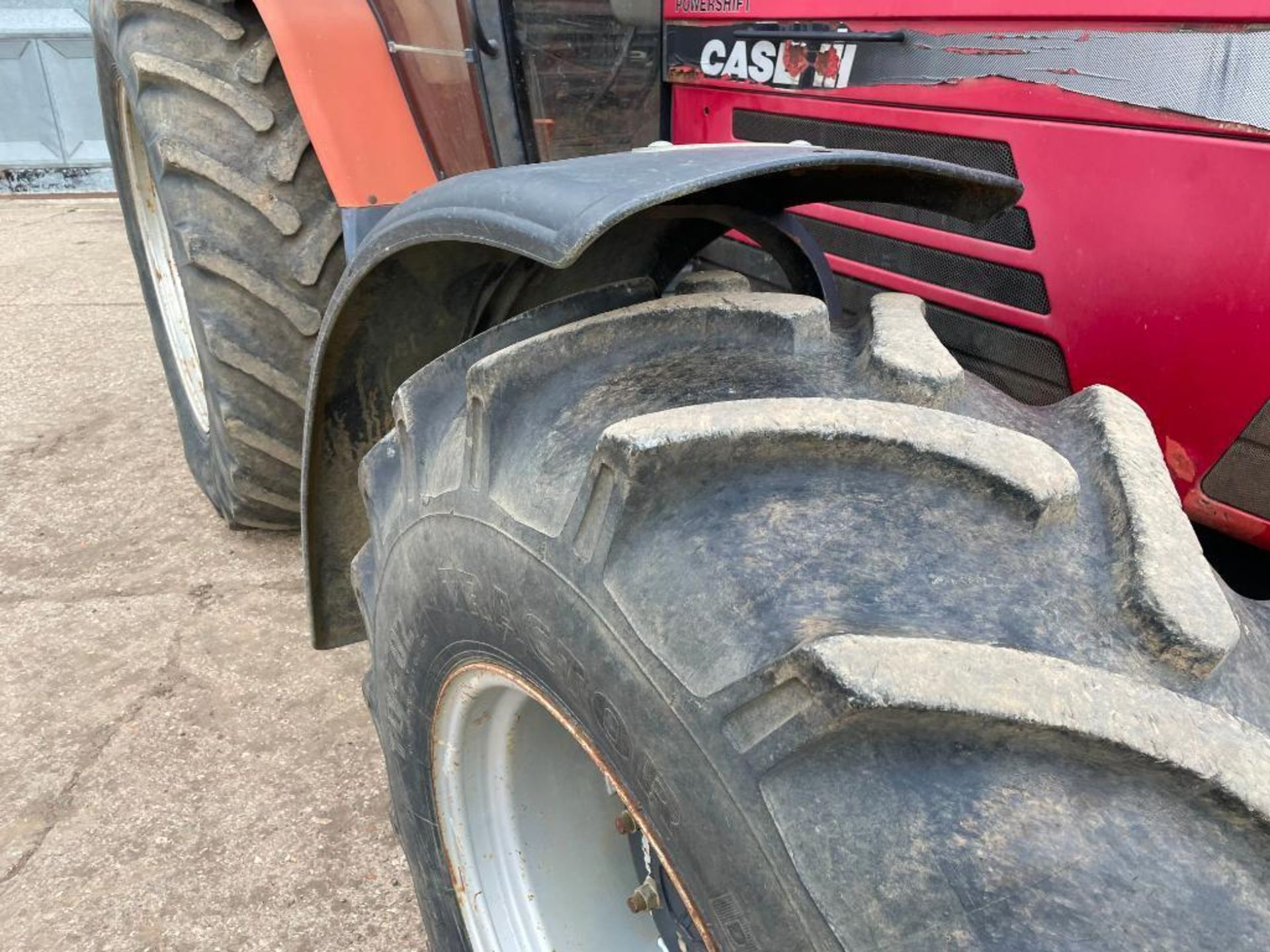 1997 Case IH 5150 Maxxum Plus Powershift 4wd tractor with 2 spools, PUH and front wafer weights on 1 - Image 3 of 13