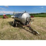 Chafer stainless steel tank, trailed single axle on 11.5/80-15.3 wheels and tyres with Honda pump