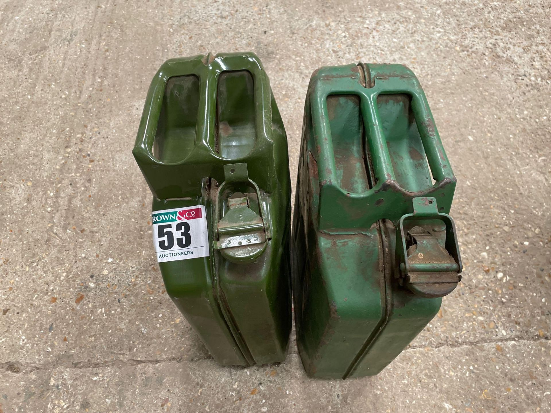 Pair Jerry cans