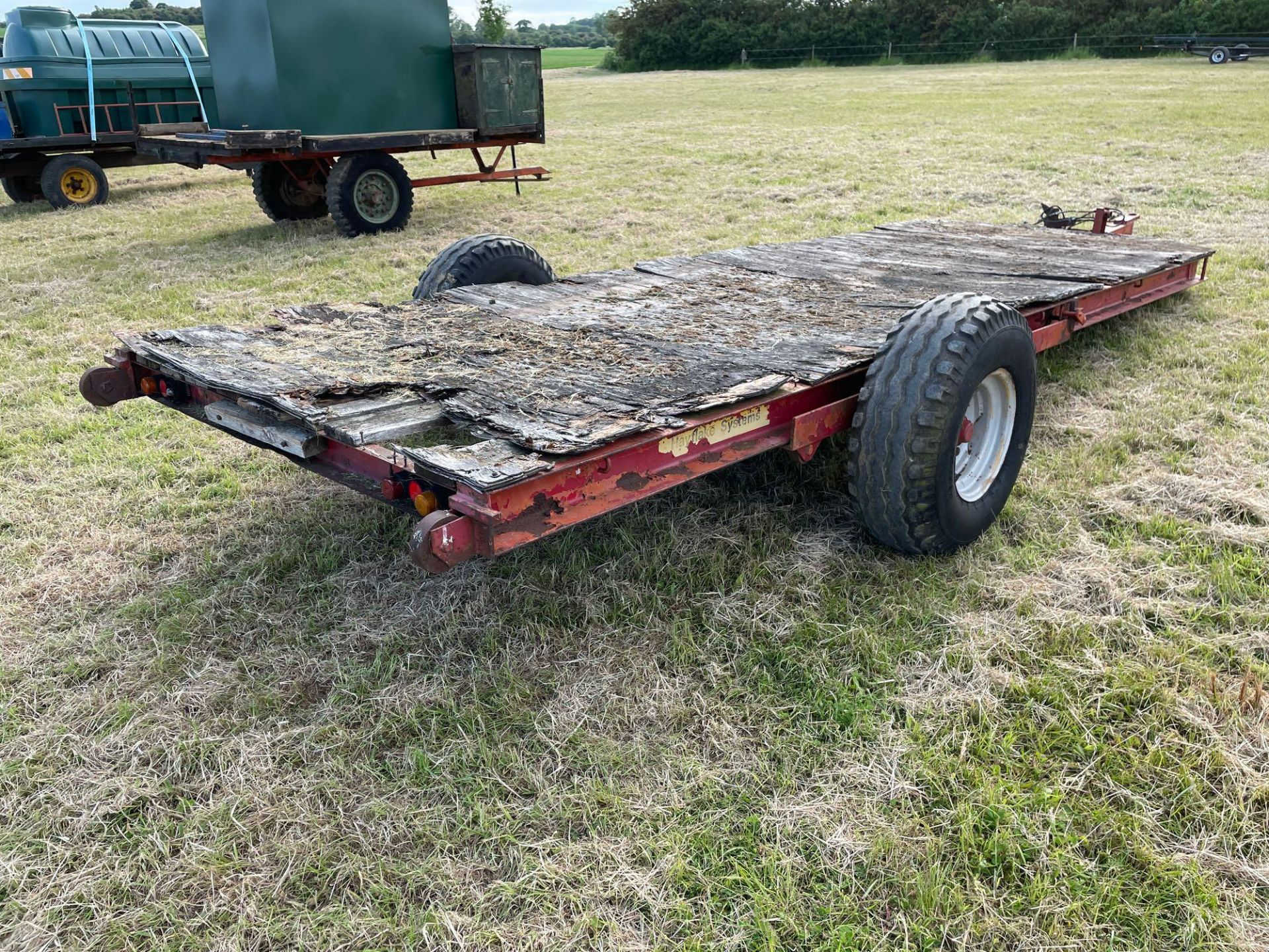 Hayflake Systems HM475, 4.5t single axle low loader trailer on 11.5/80-15.3 wheels and tyres. Serial - Image 2 of 4