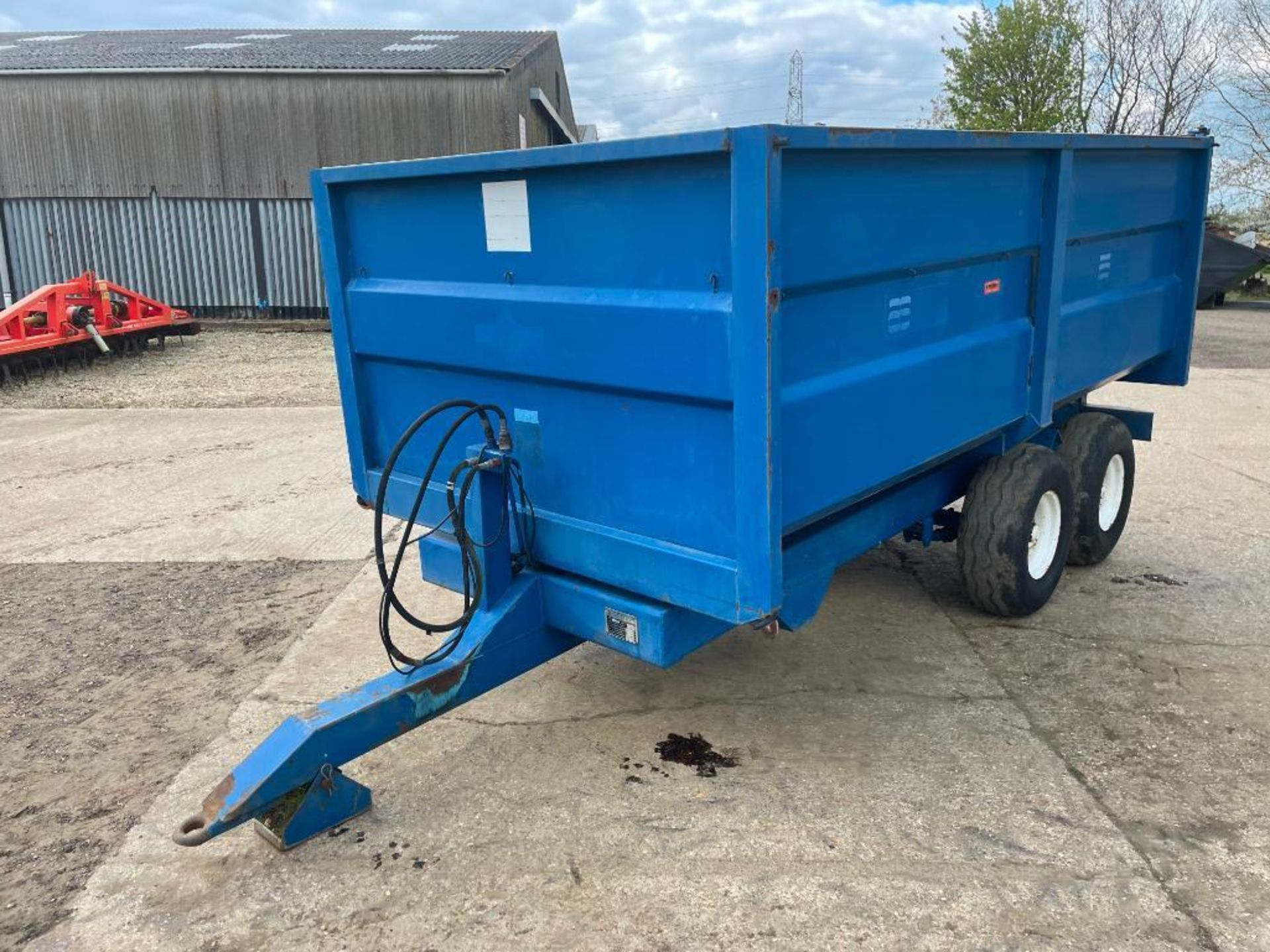 1986 AS Marston 8t twin axle grain trailer, manual tailgate and grain chute on 11.5/80-15.3 wheels a - Image 11 of 15