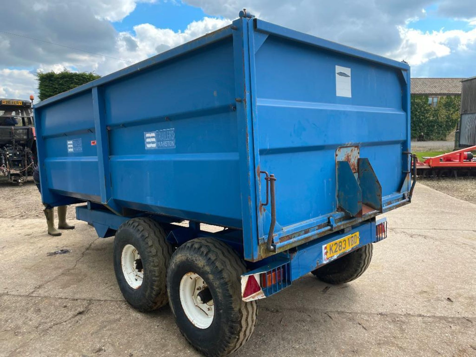 1986 AS Marston 8t twin axle grain trailer, manual tailgate and grain chute on 12.5/80-15.3 wheels a - Image 10 of 14