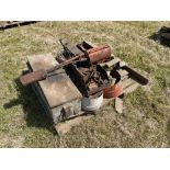 Various spare sincluding toolbox, pins and weed burner