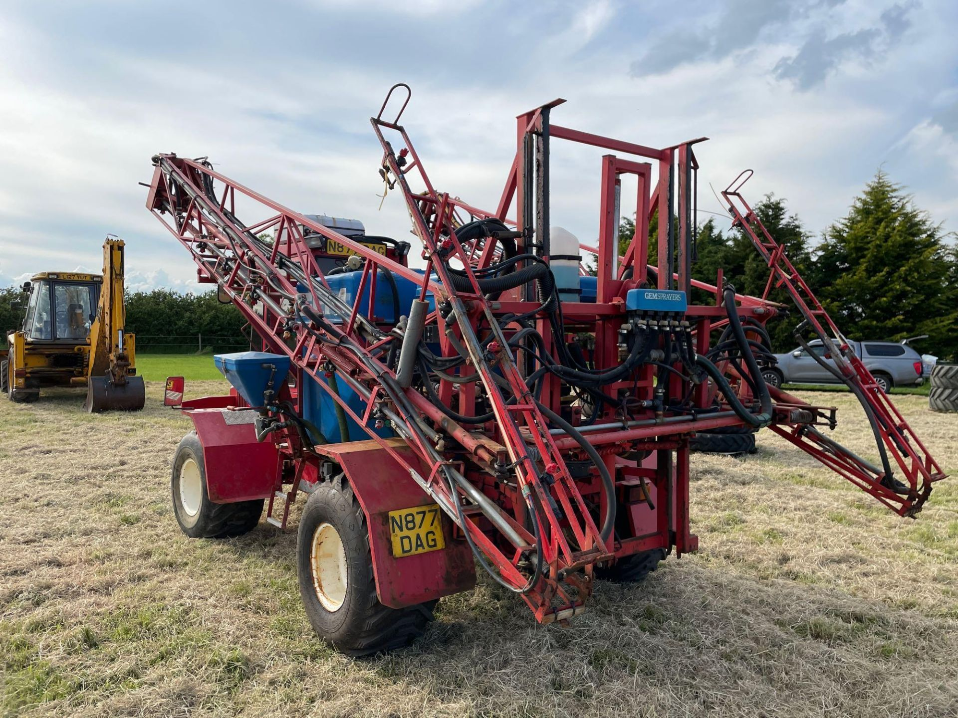 1995 Frazier Agri-Buggy SD with GEM 24m self propelled sprayer, 1500l tank on 38x20.00-16 wheels and - Image 27 of 27