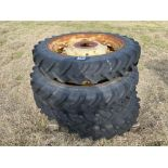 Set 230/95R36 row crop wheels and tyres